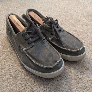 Men's Grey Sanuk Slip On Loafer Shoes Size 9